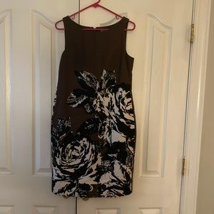 Really pretty brown dress with florals. Never worn